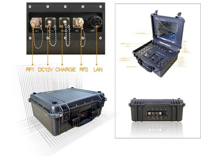 Pelican Case Wireless Ground Control Station COFDM Telemetry GCS for UAV Application