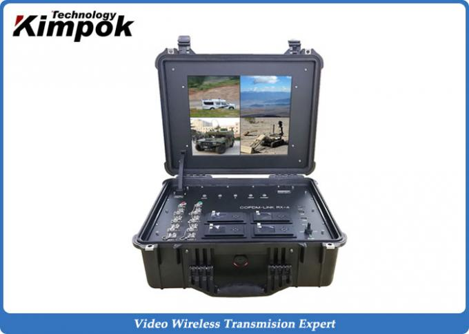 75ms Latency Wireless Data Transmitter and Receiver 200km UAV COFDM Video Sender UHF