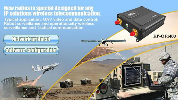 UAV Video Link and Data Link Lightweight COFDM Video Transmitter with RJ45 and Data Port