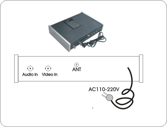 NLOS Wireless Analog Video Transmitter with 10W RF Power for Long Distance Video Audio Transmission