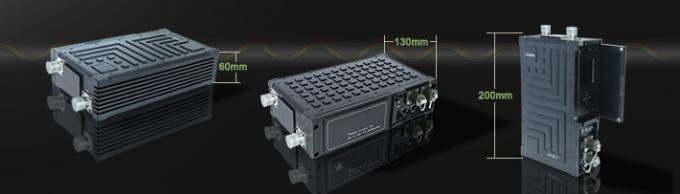 Tactical Dual Ethernet Radio Robust FDD COFDM Network Wireless Transmitter 5 Watt RF