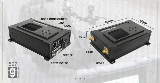 up to 50km Wireless COFDM Video Transmitter with 2W RF Ethernet Transceiver Lower Latency