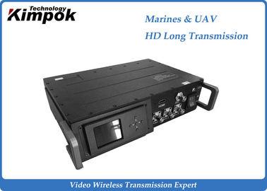 China HD Wireless AV Sender Long Range 25W COFDM Video Transmitter for Marines and UAV supplier