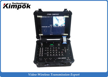 China 4 Channels Digital COFDM Receiver Box Wireless LCD Recorder 17 Inch supplier