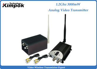 China 3000mW Long Range Broadcast Video Transmitter 1200Mhz Analog Transmitter supplier