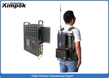 China NLOS Long Range Wireless Video Transmitter and Receiver COFDM 5-20W Manpack AV Sender H.264 supplier