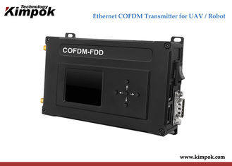 China Uplink and downlink COFDM Video Transmitter 2W RF Power Ethernet Radios 30-50km on UAV supplier