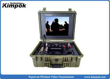 China Tactical Wireless COFDM Video Receiver with 17 inch LCD Screen Ground Control Station supplier
