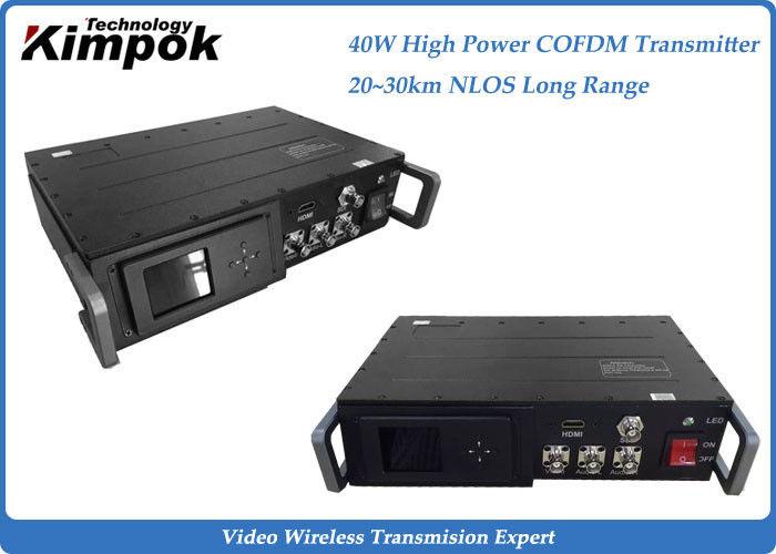 40w High Power Digital Wireless Transmitter 30km Nlos Cctv