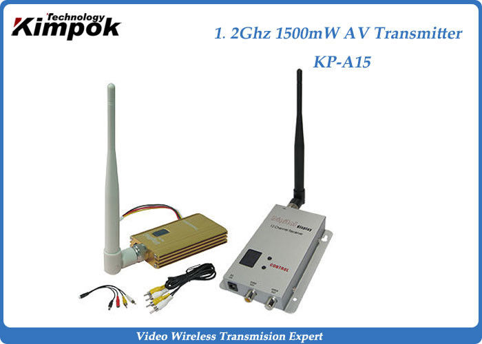 Professional Wireless Video Transmitter With 1500mW , 2KM Transmit Distance