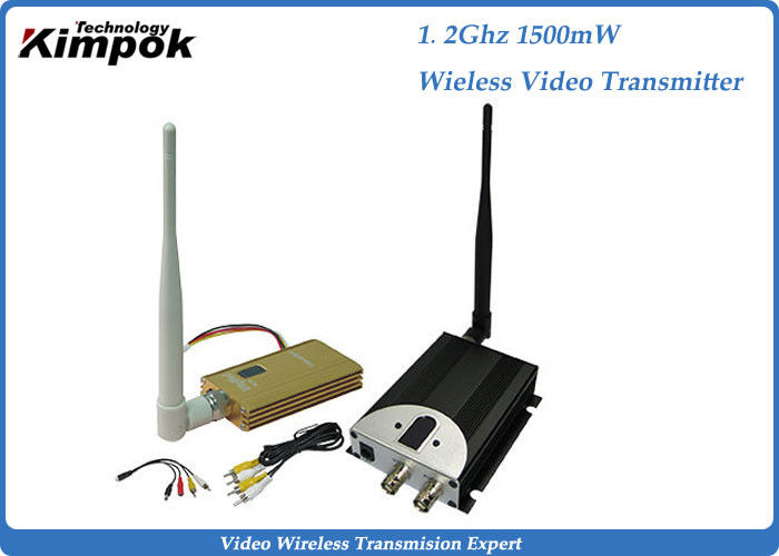 1.5w Wireless Video Audio Transmitter FPV Transmitter And Receiver Kit With 0.910 Ghz