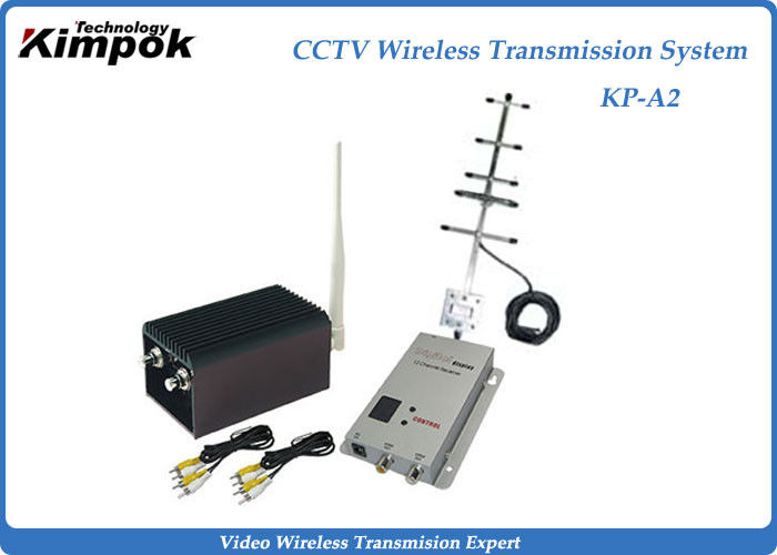 CCTV 2000mW High RF Power Long Range Wireless Video Transmitter For Wireless Security System
