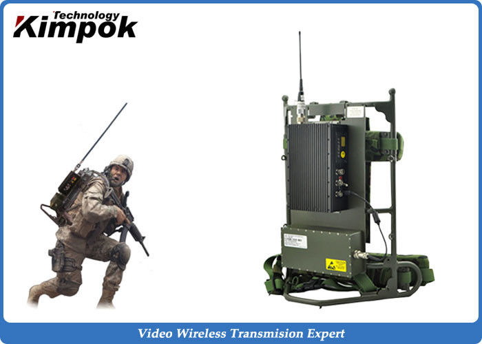 Military Backpack Digital Video Transmitter 5~8W Microwave Transmission Equipment