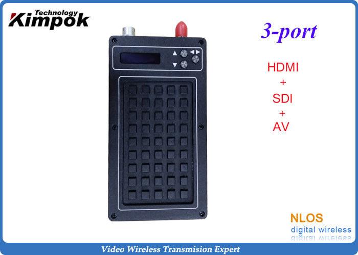 Ultra - low Latency COFDM Wireless Transmitter , Portable HD