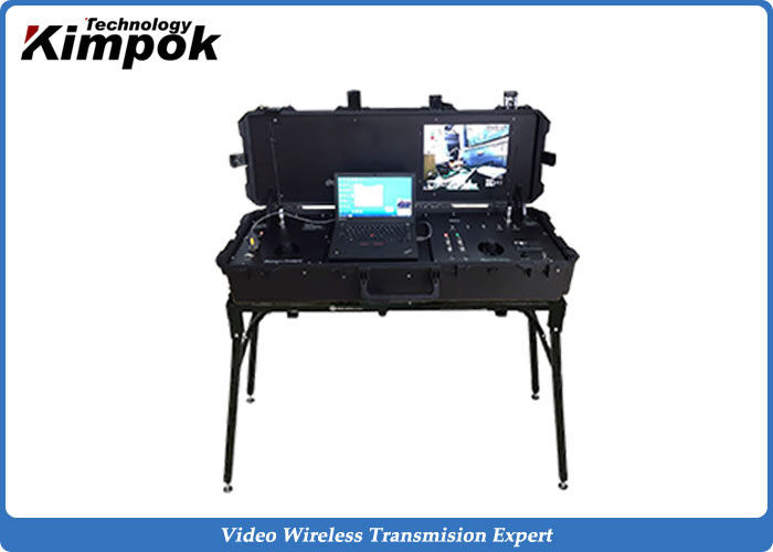 VHF UHF Radio UAV Ground Control Station Pelican Case LCD Screen Monitor Receiver