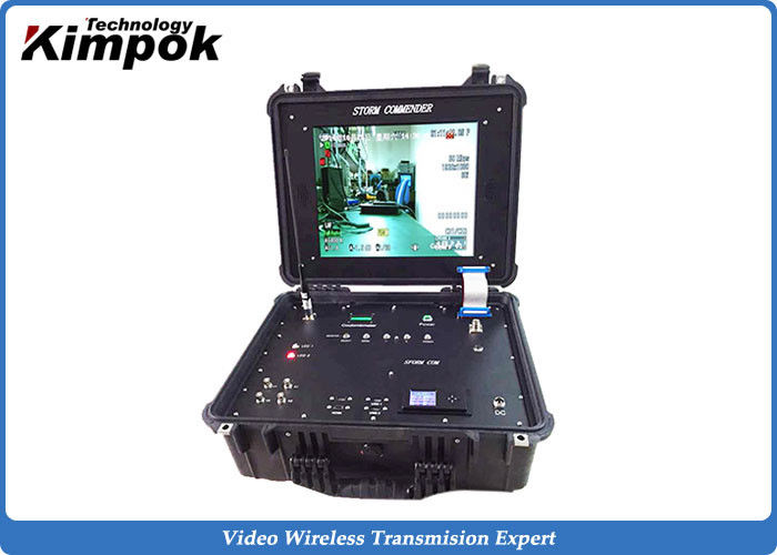 Vehicle Mounted Ground Station COFDM Video Link Receiver RS232/RS485 4CH Surveillance Rx