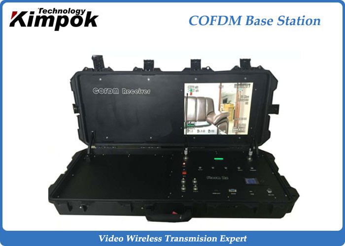 300Mhz~4.4Ghz COFDM Receiver with Pelican Suitcase , Built-in Battery Base Station