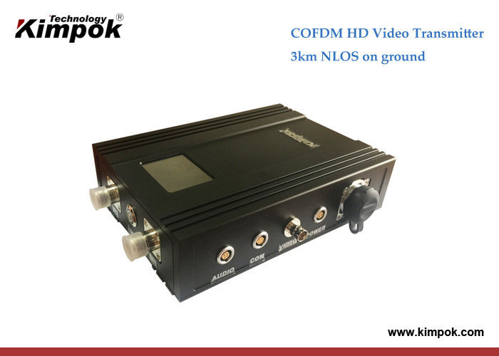 Long Transmission Range HD Wireless Video Transmitter 3km N-LOS COFDM AV Sender