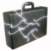 Genuine Leather Electric Shock Safety Suitcase with 30KV Output Power