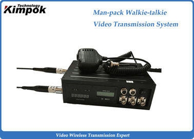 10 Watt Manpack COFDM Video Transmitter H.264 Walkie - Talkie Transmission System