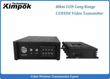 HDMI 40KM LOS Long Range COFDM Video Transmitter , Wireless Video Link for Drones