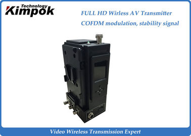 China VHF COFDM HD Wireless Transmitter and Receiver Live Broadcasting AV Sender factory