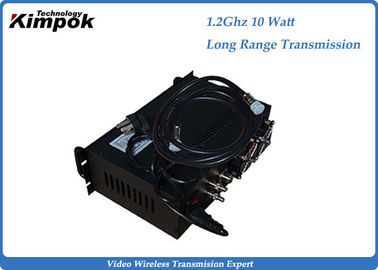 AC 220V Long Range Hd Video Transmitter 10W CCTV Surveillance Wireless Transmission