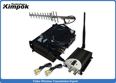China 90KM LOS Long Range Wireless Video Transmitter 10W Wireless Video Sender CCTV factory