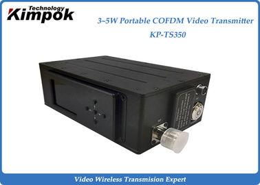 Drone Helicopter Wireless Video Sender Receiver , 3-5 Watt Digital COFDM UAV Transmitter