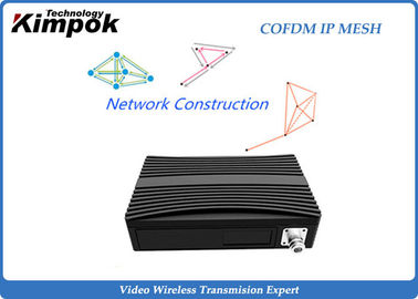 32 Nodes Ethernet IP Mesh Full Duplex COFDM Wireless Mesh for UAV / Mine