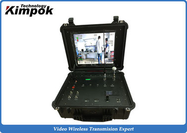China Single Channel Suitcase COFDM Receiver 17'' Wireless Digital Video Receiver Box factory