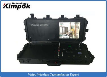 Ground Control Base Station COFDM Wireless Video Receiver with 17 Inch Monitor