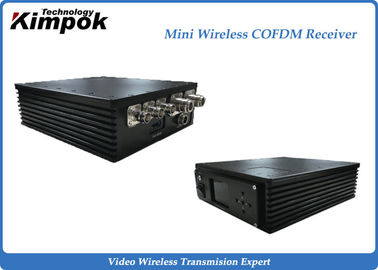 China Car Portable COFDM Receiver Small Wireless Video Receiver 300MHz-900MHz factory