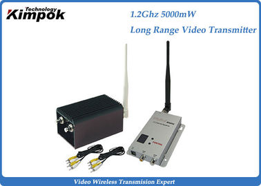 China DC 12V Long Range Video Transmitter And Receiver , Wireless UAV Transmitter with 5000mW factory