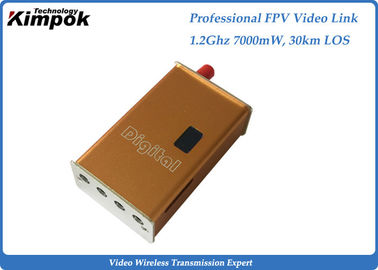 100KM LOS FPV/UAV Wireless Image Transmitter 1.2Ghz , 7W Mini Video Link