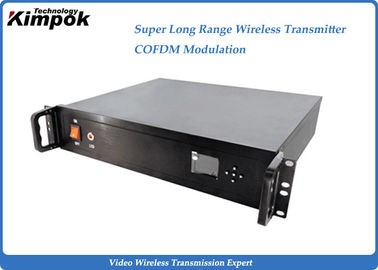 30W ~ 100W High Power COFDM Wireless AV Transmitte 100km Digital Long Range Video Sender
