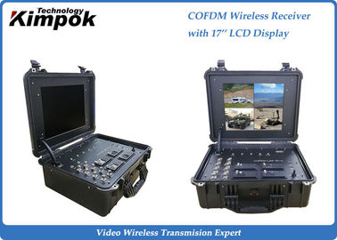 Briefcase Portable COFDM Receiver Wireless Radio with Remote Control 4 Channels